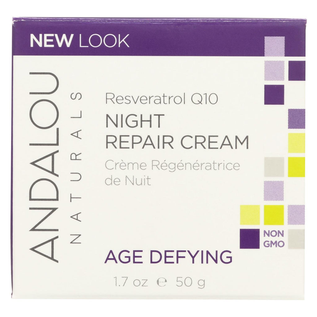 Resveratrol Q10 Night Repair Cream - Andalou Naturals - Start Living Natural