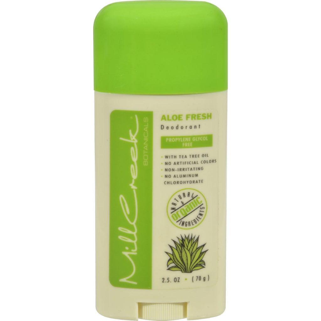 Mill Creek Deodorant Stick Aloe Fresh - 2.5 Oz