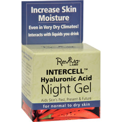 Reviva Labs Intercell Night Gel With Hyaluronic Acid - Start Living Natural