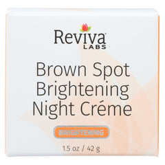 Reviva Labs Brown Spot Night Cream Skin Lightening - 1 Oz - Reviva Labs - Start Living Natural