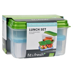 Fit And Fresh Lunch Set With Removable Ice Pack