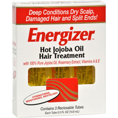 Hobe Labs Energizer Hot Jojoba Oil Hair Treatment - 0.5 Fl Oz - Hobe Labs - Start Living Natural