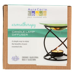 Aura Cacia - Spiral Candle Lamp - Black