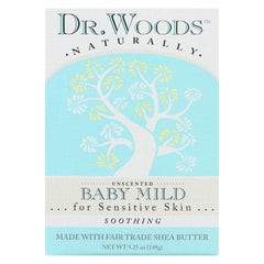 Dr. Woods Bar Soap Baby Mild Unscented - 5.25 Oz