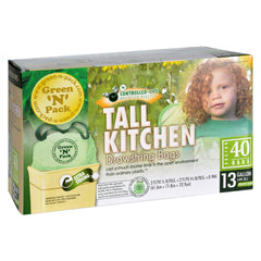 Green-n-pack Tall Kitchen Trash Bags - 13 Gallon