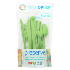 Preserve Heavy Duty Cutlery - Apple Green - 8 Sets/24 Pieces