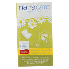 Panty Liner - Normal Wrapped - 18 ct - Natracare - Start Living Natural