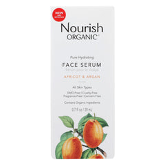 Nourish Organic Face Serum - Pure Hydrating Argan Apricot And Rosehip - Start Living Natural