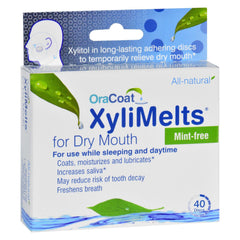 Oracoat - Xylimelts - Dry Mouth - Mint Free - Start Living Natural