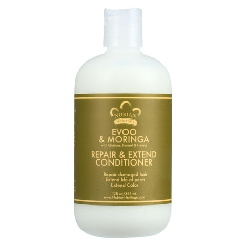 Nubian Heritage Conditioner - Evoo And Moringa - Repair And Extend - 12 Oz