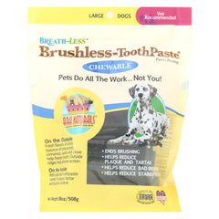 Ark Naturals Breath-less Brushless-toothpaste - Chewable - Large Dogs - Start Living Natural