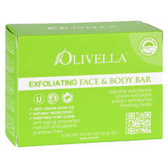 Olivella Bar Soap - Face And Body - Exfoliating