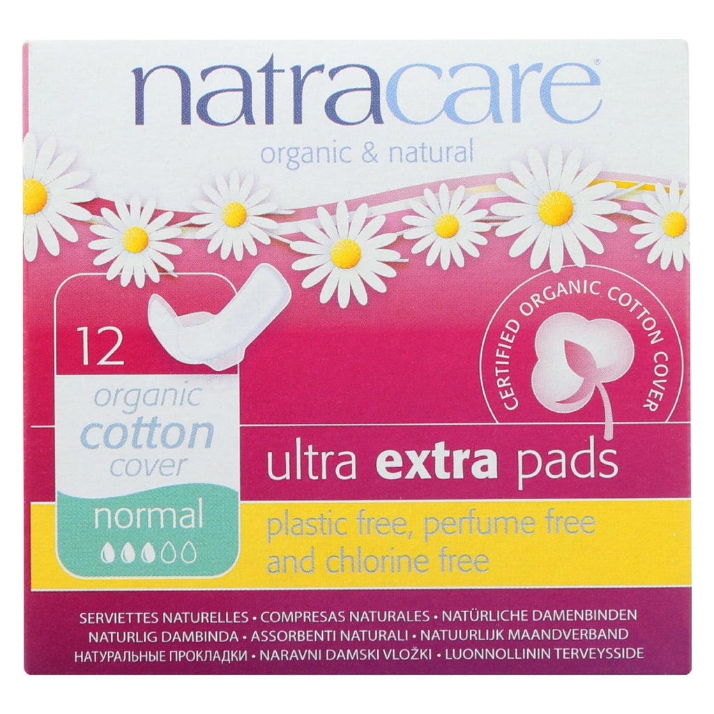 Ultra Extra Pads w/wings - Normal -  12 Count - Natracare - Start Living Natural