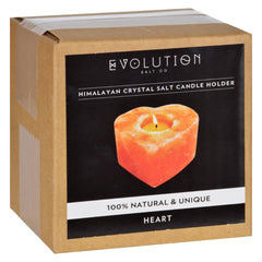 Evolution Salt Tealight Candle Holder - Heart - Start Living Natural