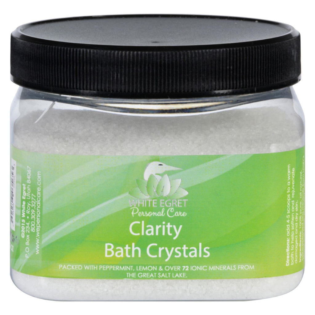 White Egret Bath Crystals - Clarity - 16 Oz - White Egret - Start Living Natural