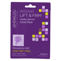 Andalou Naturals Instant Lift & Firm Facial Mask - Age Defying - 6 Masks - Start Living Natural