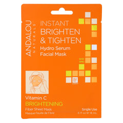 Andalou Naturals Instant Brighten & Tighten Facial Mask - Vitamin C - 6 Masks - Start Living Natural