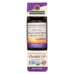 Nature's Answer - Organic Essential Oil Blend - Vitality Energy Boost