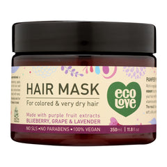 Ecolove Hair Mask - Purple Fruit Hair Mask For Colored And Very Dry Hair - Start Living Natural