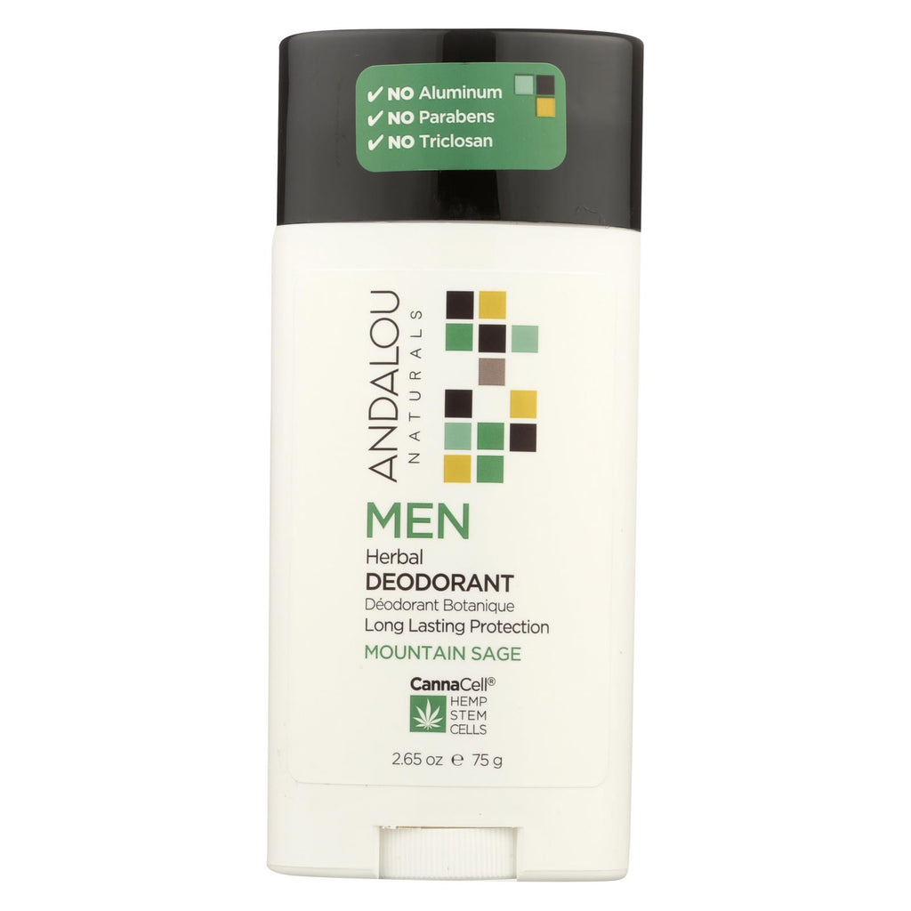 Andalou Naturals - Deodorant - Men's Herbal - 2.65 Oz. - Andalou Naturals - Start Living Natural