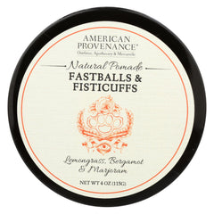 American Provenance - Hair Pomade - Fastballs And Fistcuffs - 4 Oz. - Start Living Natural