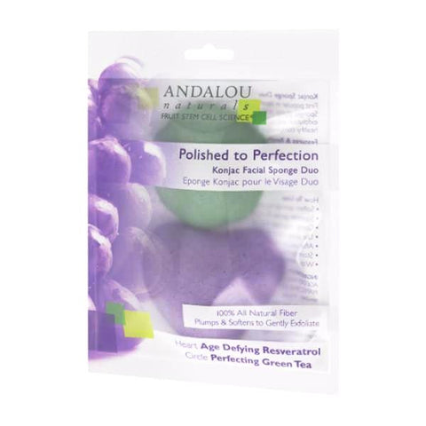Konjac Facial Sponge Duo - Andalou - Start Living Natural