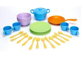 Green Toys Cookware and Dinnerware Set - 27 Piece Set - Green Toys - Start Living Natural