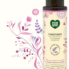 Ecolove Conditioner - Purple Fruit Conditioner For Colored And Very Dry Hair - Start Living Natural