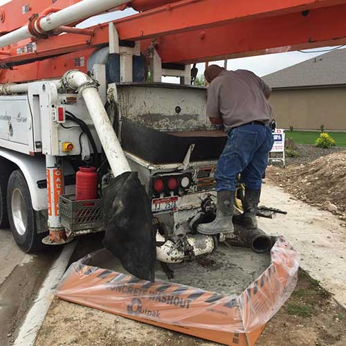 Concrete Washout for Pump Truck