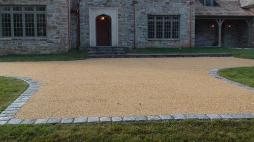 Gravel Lok installed on a driveway