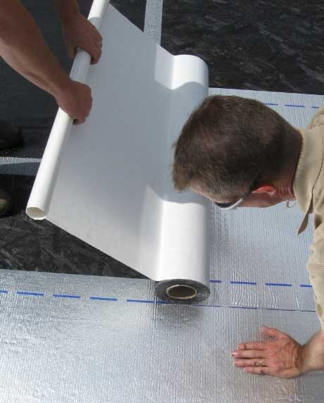Applying Roofing Material MFM Peel And Stick ...