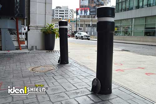 backside of bollards