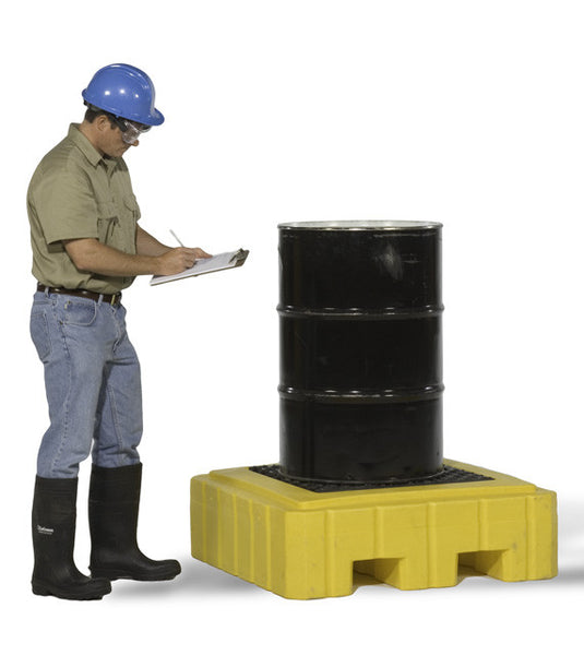 Ultratech 1-Drum Spill Pallet With Drain- Plus P1 - 9607