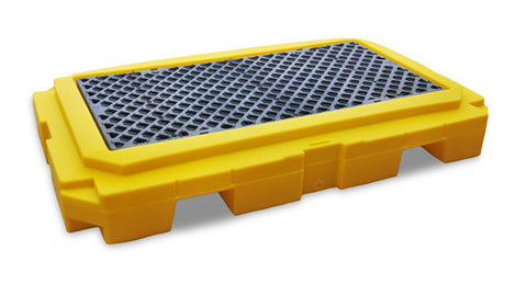 Ultratech 2-Drum Spill Pallet With Drain- Plus P2 - 9611