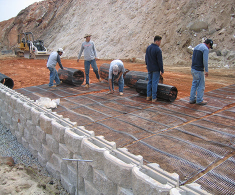Tensar UX1600MSE Uniaxial Geogrid - 4.36' x 200' Roll
