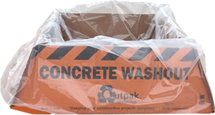 Concrete Washout Containers - Portable Bag Lined Bins – Paramount