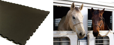 Horse Trailer Mats - 8' x 12' Trailer Kit - Interlocking