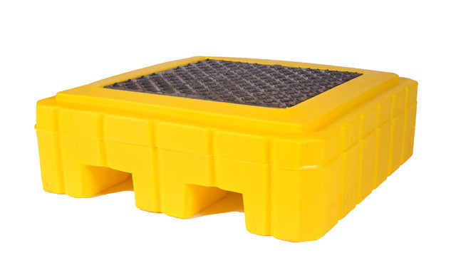yellow spill pallet with drain ultratech