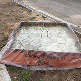 Corrugated Concrete Washout Pan - Outpak 4' X 4' X 14""