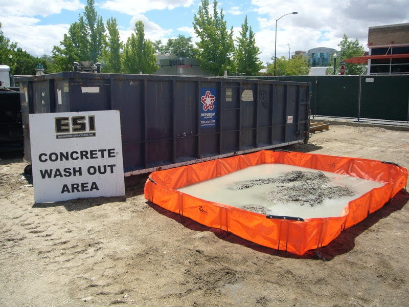 Construction Washout Bin For Concrete Outpak 8 X10