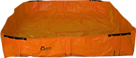 Orange Construction Washout Bin for Concrete