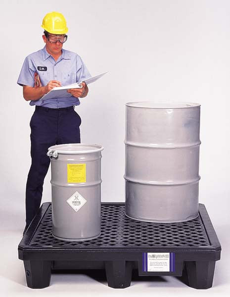 Ultratech 4-Drum Spill Pallet With Drain- Economy P4 - 1113
