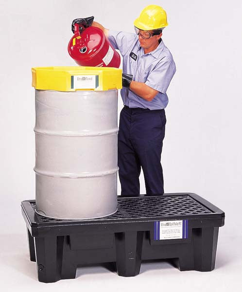 Ultratech 2-Drum Spill Pallet With Drain - Economy P2 - 2505