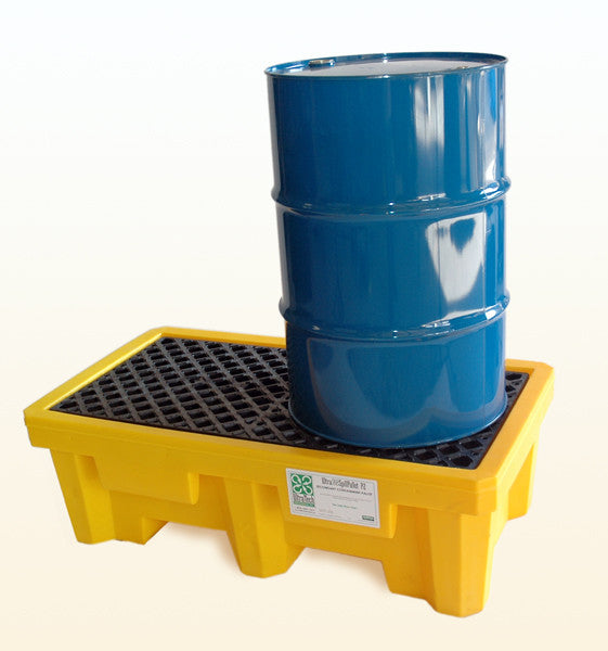 2 drum spill pallet with drain Ultratech