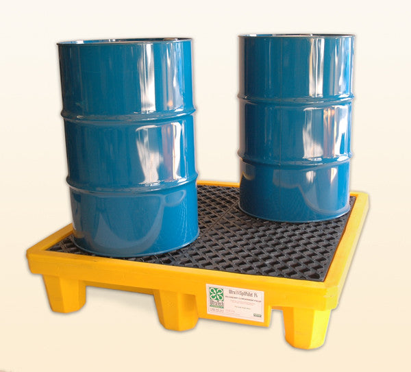 Ultratech 4 drum spill pallet with drain