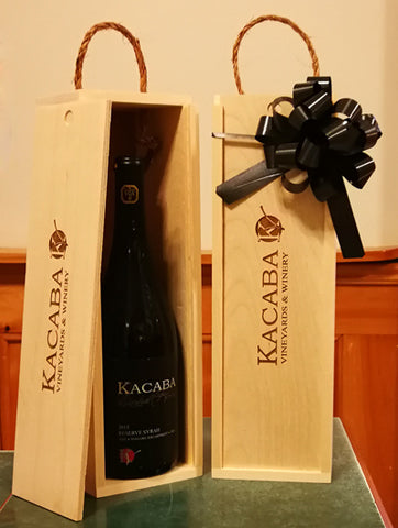 Single Bottle Wooden Gift Packages