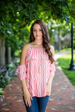 Pink Candy Stripe Top
