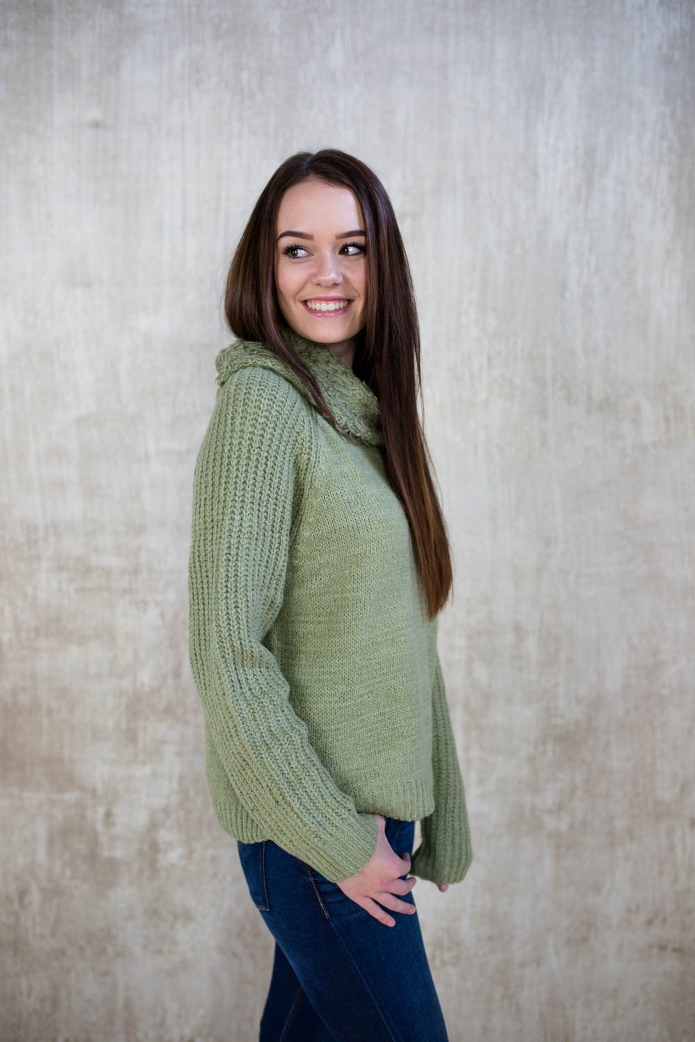 Pale Sage Sweater