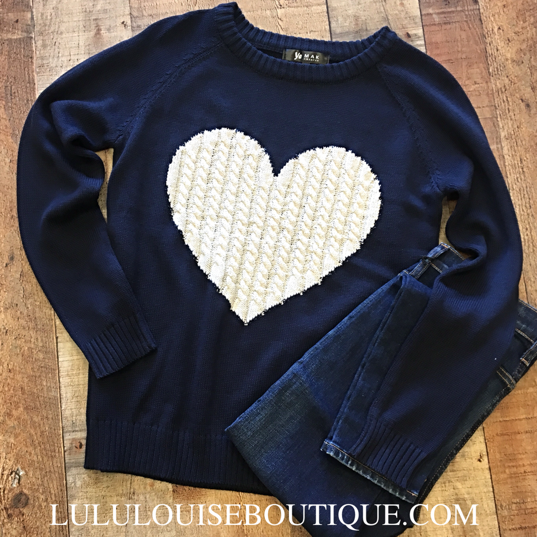Cable Heart Sweater