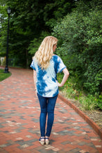 Sea Blue Tie Dye Top